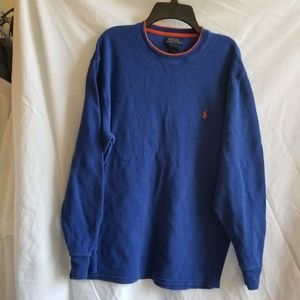 Polo Ralph Lauren Knit Long Sleeve Blue Polo XL